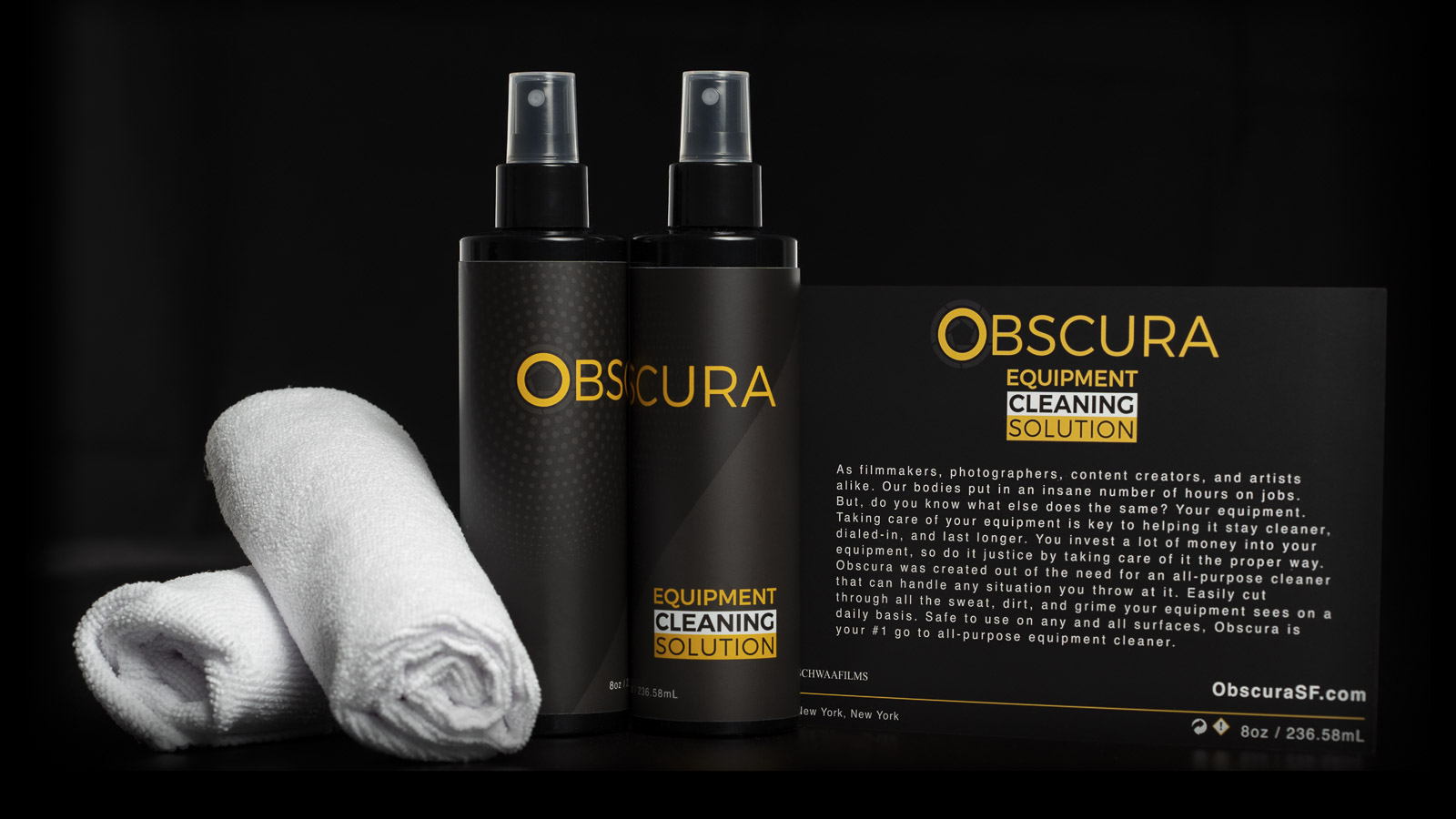 Obscura Equipment Cleaning Solution Cover
